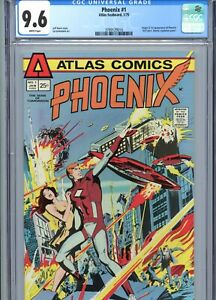 Phoenix #1 CGC 9.6 White Pages 1st App Phoenix Atlas Comics 1975