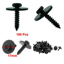 100 pcs Car Screw Body Fender Bumper Retainer Clips 7mm Indented Hex Washer Head