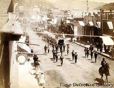 Parade on Main St., Deadwood, South Dakota -1888- Historic Photo Print