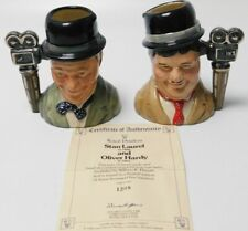 Ltd Edition Royal Doulton Character Toby Jug Laurel & Hardy Set D7008/9 4.5""