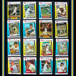 Baseball MVP Cards! Lot of 16: '82 Topps K-Mart 20th Ann. Series, MLB HOF Set #2