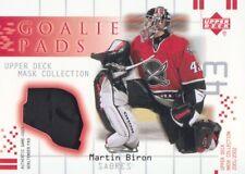 2001-02 UD Mask Collection Hockey Goalie PAD #GP-MB Martin Biron Buffalo Sabres