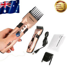 Electric Mens Shaver Rechargeable Washable Beard Hair Clipper Trimmer Set Hot AU