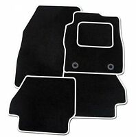 RENAULT LAGUNA COUPE 2008 ONWARDS TAILORED BLACK CAR MATS WITH WHITE TRIM