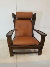 ISA una potrona anni 60 legno e pelle - ISA italian 1960s armchair wood leather