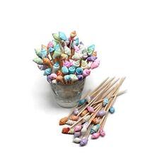 100 Pastel Dyed Seashell Toothpicks for Beach Wedding Shell Tiki Bar Party