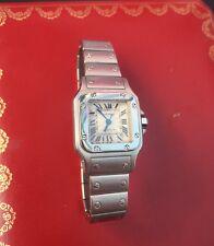 Cartier Santos galbee AUTOMATIC 2423 Orologio Donna con data Mocio Nascosta Fibbia in Scatola