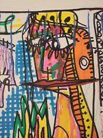 Art Contemporain Art Brut Art Singulier 4004 Oeuvre originale signée JC 16-2-18