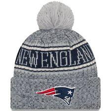 Patriots 2018 New Era REVERSE Light Gray Sideline Pom Knit Winter Hat FREE  SHIP f9849c41145b