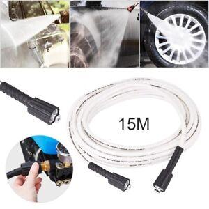 15m High Pressure Washer Extension Hose 1740PSI M22 Thread Jet Power 5/16''