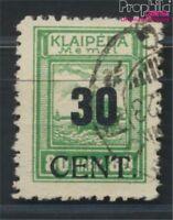 Memelgebiet 195 geprüft gestempelt 1923 Aushilfsausgabe (8984785