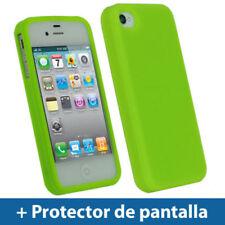 Carcasas de color principal verde de silicona/goma para teléfonos móviles y PDAs