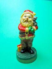 Vintage 1976 Hallmark Santa With Kitty Cat Christmas Merry Miniature (C28)