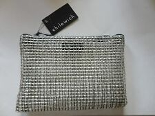 New~Chilewich Metallic/Clear Fish Net Unique Costmetic Case/Make~Up Bag~RARE
