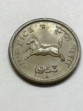 1953 India 1 Pice Unc #171