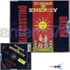 """GIGI D'AGOSTINO & DATURA """"SUMMER OF ENERGY"""" RARE CDM ITALY"""