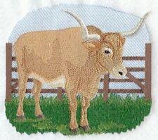 Embroidered Fleece Jacket - Longhorn Steer M1886 Sizes S - XXL