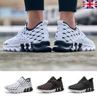 Mens Slip On Lightweight Running Shoes Breathable Walking Athletic Sneakers Gym