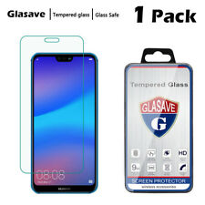 [1-Pack] Glasave Clear Tempered Glass Screen Protector Saver For Huawei P20 Lite