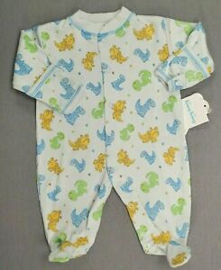 Baby Boy Clothes New Kissy Kissy Preemie Fun Dinosaur Print Footed Outfit