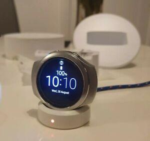 Samsung Galaxy Gear S2 Sport Smartwatch SM-R720 - Silver - Used, no strap