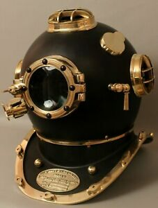 Adam Antique U.S Navy Mark V Boston Diving Divers Helmet Steel & Brass