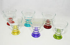 6 Coloured Base Glass Bowls Ice Cream Bowl Dessert Cup Sundae Fruit Trifle 319
