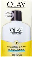 OLAY Complete All Day Moisturizer SPF 15, Sensitive 4 oz (Pack of 2)