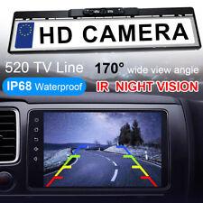 Waterproof EU License Plate Frame Car Rear View Reversing IR Night Vision Camera