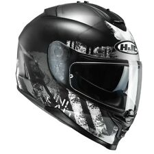 HJC IS-17 SHAPY MOTORCYCLE HELMET LARGE FULL FACE BLACK INT SUN VISOR SAVE £75!