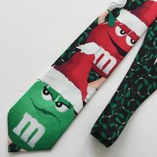 M&M's Mistletoe Christmas Tie - M&Ms Red Green Characters wearing Santa Hat