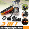 Bicycle Bike Cycling MTB 7 LED Turn Signal Lamp+Tail Brake Light+Electric Horn