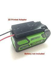 battery adapter for 40V G-max greenworks 12 gauge wire power connector robotics