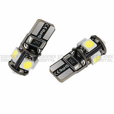 2x ERROR FREE CANBUS T10 5050 5 SMD LED XENON HID WHITE W5W 501 SIDE LIGHT BULB