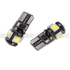 2 x White T10 501 194 168 W5W 5SMD LED Error Free Canbus Car Side Light Bulb 12V
