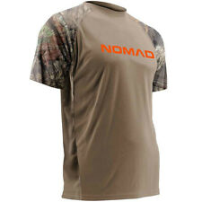 NOMAD Mossy Oak Break Up Country Camo Hunting Short Sleeve Jersey Shirt L NWT