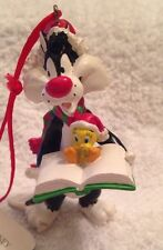 Avon Looney Tunes Sylvester And Tweety Caroling Christmas Ornament