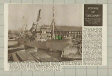 (3748) Ship Discovery II West India Docks London Antarctic - 1950 Clip