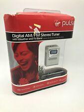 Virgin Pulse Digital AM/FM Stereo Tuner Weather TV Band Radio Headphones