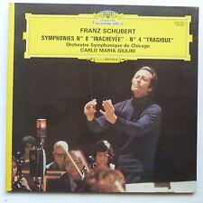 SCHUBERT Symphonies 8 Inachevée 4 Tragique Orch Chicago CARLO MARIA GIULINI