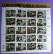 3393 - 3396  US ... Distinguished Solders.. .Never Hinged Sheet issued year 2000