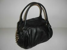 FAUX LEATHER BLACK DUFFLE BAG WEEKENDER CARRY ON GYM TOTE