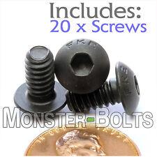 "#10-24 x 3/8"" - Qty 20 - BUTTON HEAD Socket Cap Screws - Alloy Steel Black Oxide"
