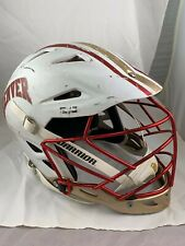 Du Lacrosse Helmet (White with Stripe)