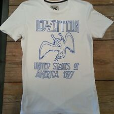 Amplified Led Zeppelin White T shirt S, M, L Rare!