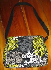 Vera Bradley Baroque Large Messenger Bag Yellow / Black and Gray