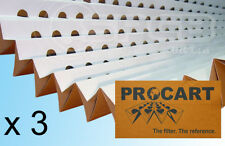 Paint Spray Booth Filters Pleated Concertina Cardboard 0.9 x 9.2m - x 3 SAVING