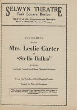*SCANDALOUS ACTRESS LESLIE CARTER EDWARD G ROBINSON 1924 STELLA DALLAS PROGRAM*