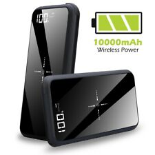Qi Wireless Charger Power Bank 10000mAh For iPhone Samsung Mobile Phone Devices