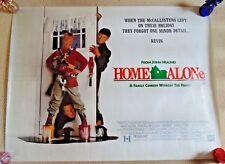 HOME ALONe ORIGINAL ROLLED CINEMA QUAD POSTER 1990 MaCaulay Culkin CHRISTMAS